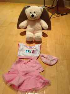 Build a Bear - cream with outfit Kitchener / Waterloo Kitchener Area image 1