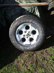 """32"""" duellers off a jeep wrangler sahara rim and tire"""