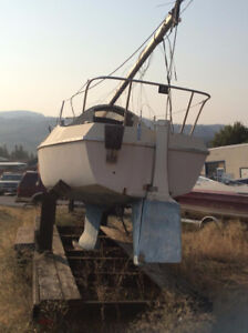 Sailboat & Trailer as is