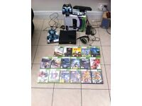 Xbox 360 kinect 324gb and games