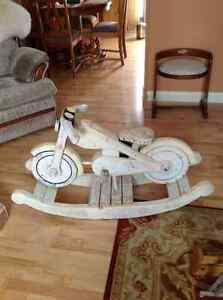"""WOODEN MOTORCYCLE """"ROCKING HORSE"""""""