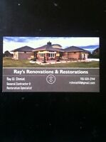 General contractor & restoration specialist available