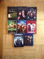 Lot de huit films (Blu-ray et DVD) styles peur...