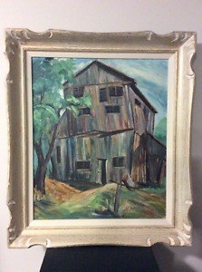 Large oil on board painting by Edith Agnes Smith 1867-1954