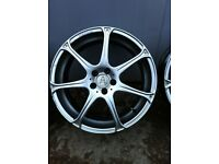 """18"""" wolfrace alloy wheels 5x100 pcd fit polo golf n others"""