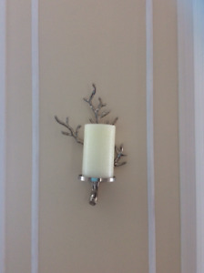 Candle sconces from West Elm