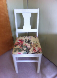 Restored solid wood chair