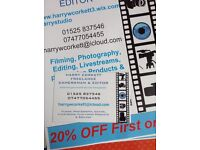 £277 Wedding Videographer Package.