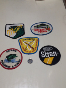 Fishing patches.