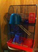 3 story hamster cage with accessories