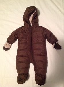 Bunting Suit for Infant (Brown)