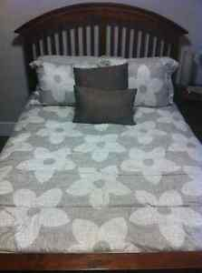 Double Bed Frame (Headboard, footboard and runners)