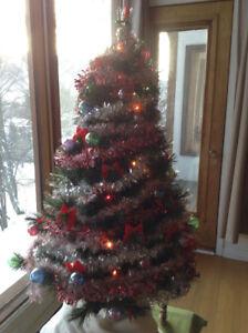 Sapin de Noël à fibres optiques