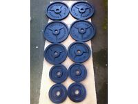150kg BODY POWER OLYMPIC CAST IRON WEIGHTS SET