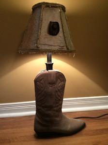 Horse suede lamp