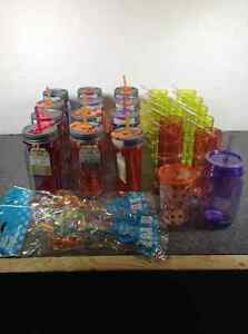 Lot of BPA free insulated plastic mason jars - Cool Gear +