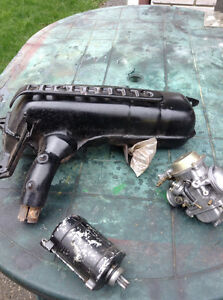 Muffler starter and carburator for HONDA 1993.  Helix. 250cc