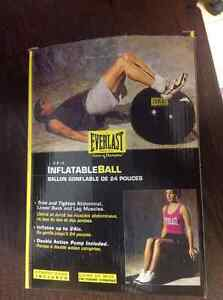 Everlast inflatable ball exercise yoga back pain 24 inches
