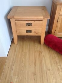 Solid oak drawer/ table