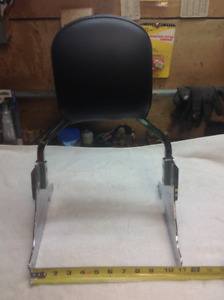 Harley passenger backrest for wide rear tire Softail and Dyna