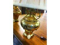 Ornate brass lamps