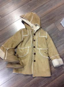 Manteau printemps-automne avec bottes assorties