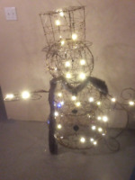 OUTDOOR LIGHTED SNOWMAN