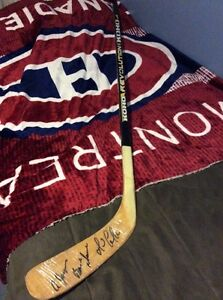 Mario Lemieux Pittsburgh Penguins signed game issued stick