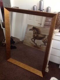 Gold framed mirror - perfect condition