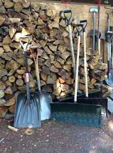 Snow shovels and other tools
