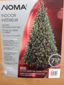 """7.5 ' H """"NOMA"""" indoor lighted pine tree with 800 lights"""