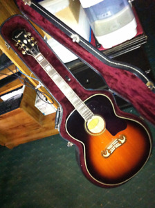 EPIPHONE ACOUSTIC WITH CASE 220.00