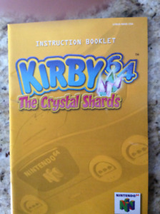 Kirby 64 The Crystal Shards - Instruction booklet
