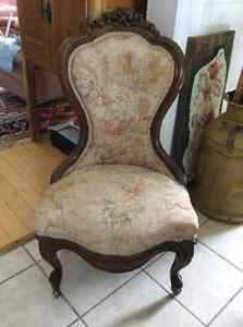 Antique solid oak rocking chair plus other chairs Kitchener / Waterloo Kitchener Area image 3