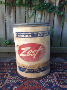 Antique Collectible Zest Shipping Barrel Container