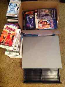 VHS movies and one storage