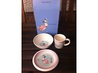Wedgwood Jemima Puddle Duck Three Piece gift set (plate, bowl, cup) - new in box