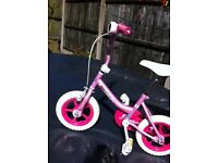 Girls pink bicycle