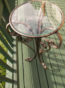 Small table with glass top