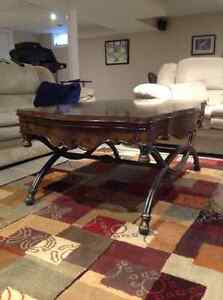 Large solid coffee table