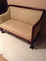Love seat and chair