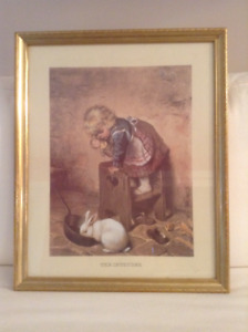 Large Picture of Little Girl with Bunny Rabbit
