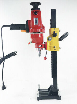220v Diamond Core Drill Concrete Machine With Stand Engineering Building Rig