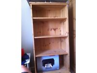 Old pine open shelving unit