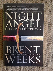 Excellent condition, Night Angel Trilogy by Brent Weeks