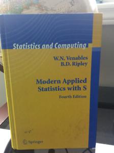 Modern Applied Statistics with S (with R as well)