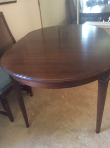 Beautiful Gibbard dining table and 6 chairs — price reduced!!