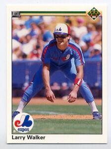 LARRY WALKER .... 1990 Upper Deck .... ROOKIE CARD