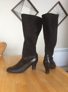 Leather & suede boots