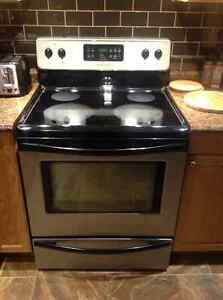 Frigidaire stainless look dishwasher and range